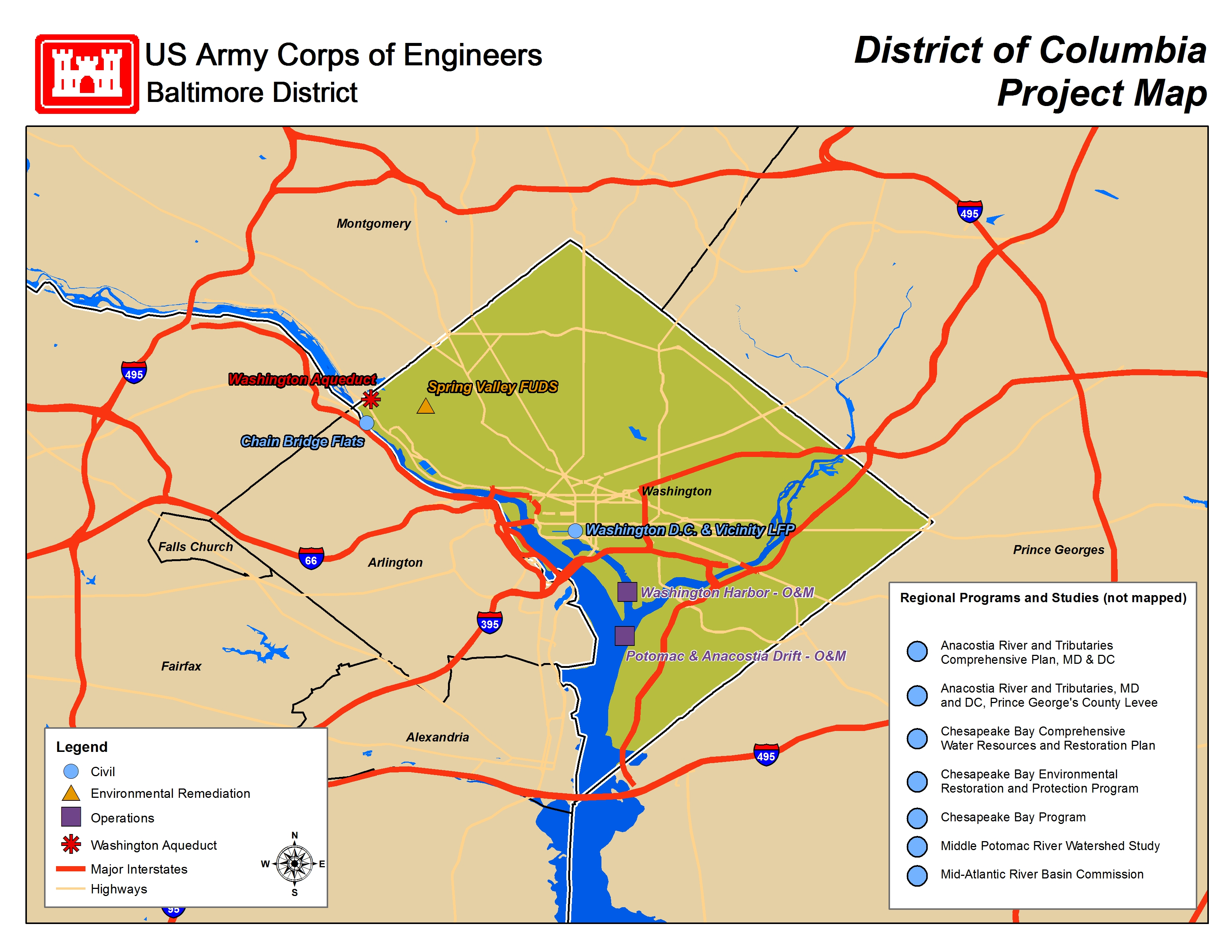 Baltimore District  About  Project Fact Sheets  Factsheet Maps - Alexandria usa map